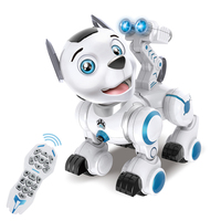 RC Robot Intelligent Patrol Simulation Dogs Walking &Dancing Robots With Music Light Excellent Gift For Children Hobby Toy