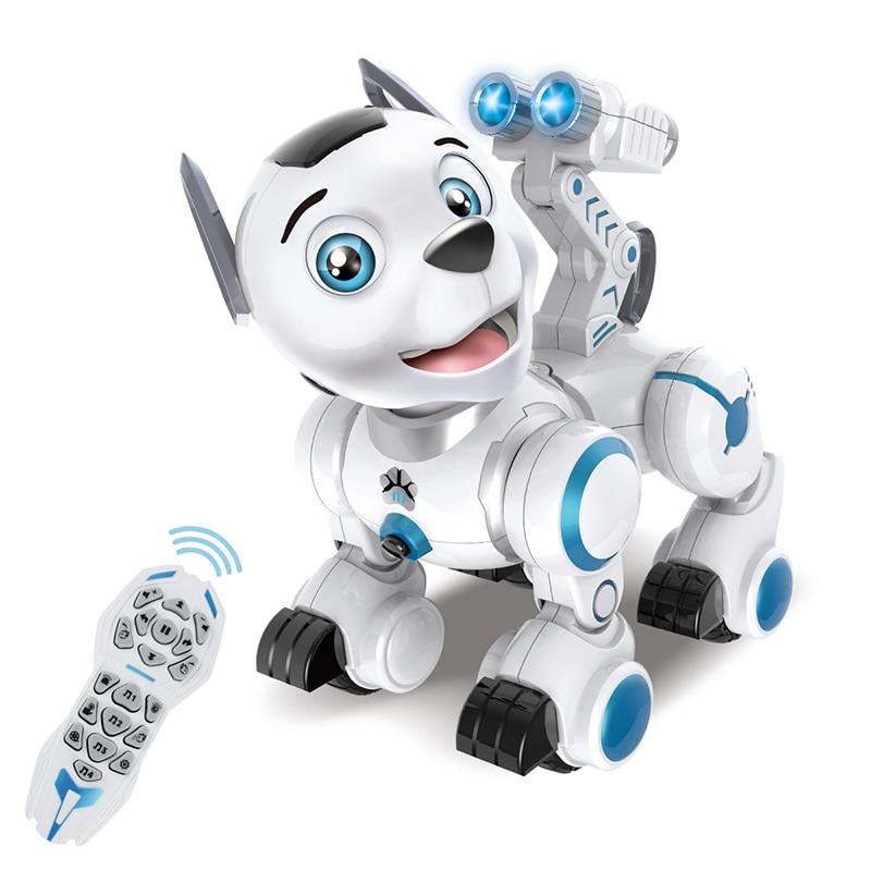 RC Roboter Intelligente Patrol Simulation Hunde Walking & Tanzen Roboter Mit Musik Licht Ausgezeichnete Geschenk Für Kinder Hobby Spielzeug