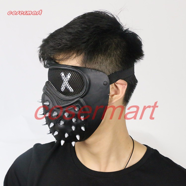 Game Cosplay Mask Watch Dogs 2 Mask Marcus Holloway Mask Casual Tangerine Mask Halloween Party Prop (11)