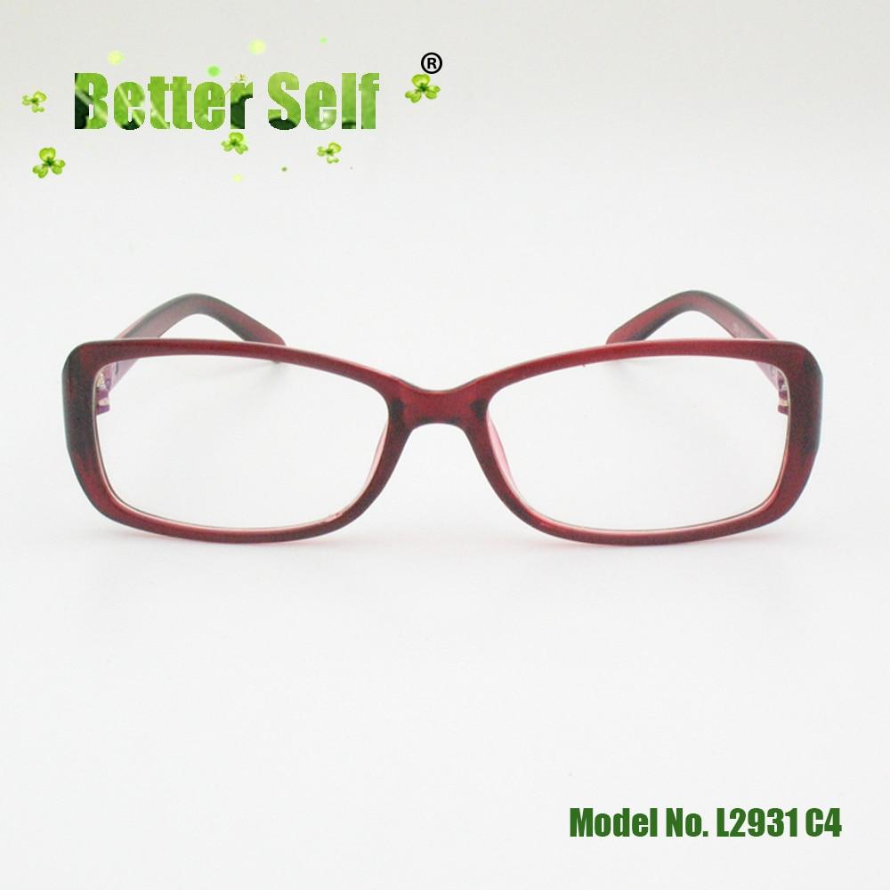 Better Self L2931 Rectangle Optical Woman Glasses Frame Butterfly Stylish Designer Vintage PC Eyeglasses