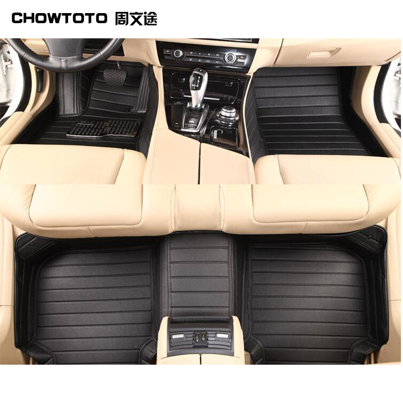Chowtoto Custom Special Floor Mats For Ford Edge Seatsrows Non Slip Waterproof Carpets For Edge Boot Pad