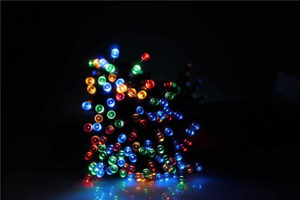 22 м светодио дный 200 светодиодные гирлянды сказочные огни на открытом воздухе рождественские водостойкие солнечные полосы света Наружное освещение для сада Свадебные Лампы