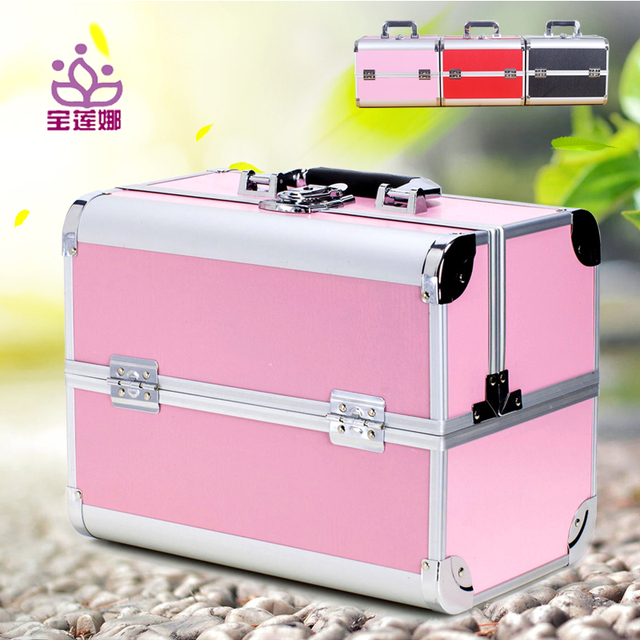 Professional Cosmetic bag Beautician  Large Capacity Travel Storage Suitcase Solid Makeup case Organizer Nail embroidery box 40Z