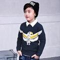 Pioneer crianças meninos camisola 2016 novas crianças outono malhas padrões meninos sweater crianças moda pokemon ir pássaro outerwear