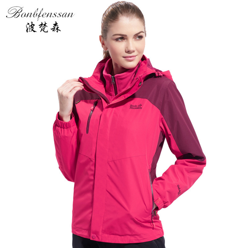 camel outdoor jacket 3 in 1 women windproof waterproof jacket female camping hiking jackets rain windstopper windbreaker Women 3 in 1 Winter Inner Fleece Outdoor Jackets Thermal Waterproof Windproof Sports Camping Hiking Female Hiking Jacket 1807B