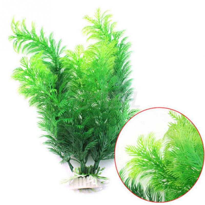 Fish Tank Aquarium Decoration Green Artificial Plastic Underwater Grass Plant Aquarium Decorations Decorations for aquarium in Decorations from Home Garden