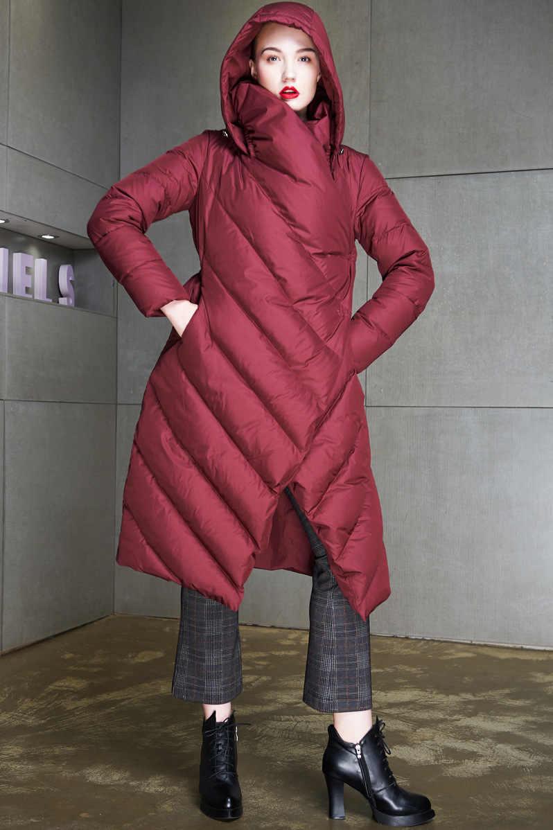2019 לעבות סדיר נשים חורף מעיל חדש Parka נשים ארוך סלעית Loose מעיל נשי חורף מעיל חם מעיל בתוספת גודל