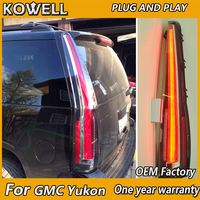 KOWELL Car Styling For GMC Yukon for Tahoe Suburban LED Tail lamp 2007 2008 2009 2010 2011 2014 DRL Cadillac Escalade Style