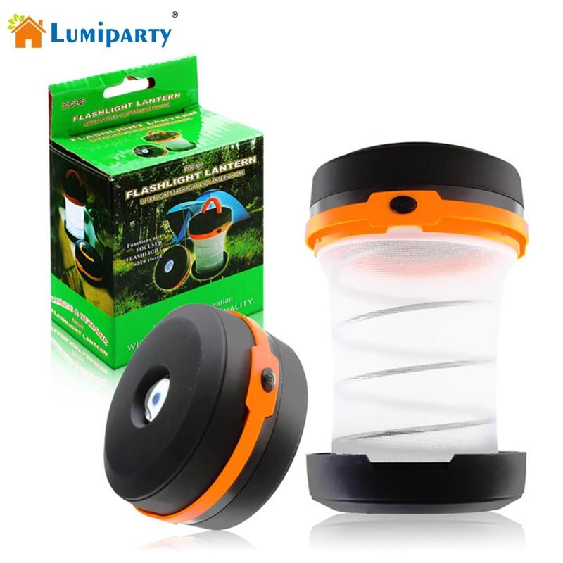 Lumiparty többfunkciós 3 színek visszahúzható 5 LED kültéri - Hordozható világítás