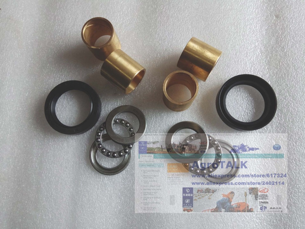 Fengshou estate tractor FS180, set of bearing, seals and bushing for steering knuckle , part number: rubber seals for fluid and hydraulic systems