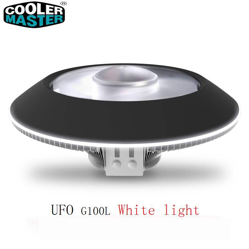 Cooler Master G100L CPU saucer cooler for Intel 775 115X AMD AM4 AM3 CPU radiator 10cm 4pin LED white light UFO cooling PC quiet akasa 120mm ultra quiet 4pin pwm cooling fan cpu cooler 4 copper heatpipe radiator for intel lga775 115x 1366 for amd am2 am3