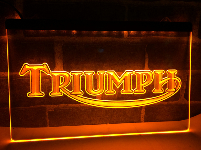 LG051 Triumph Motorcycles Services Repairs Neon Sign Home Decor Crafts