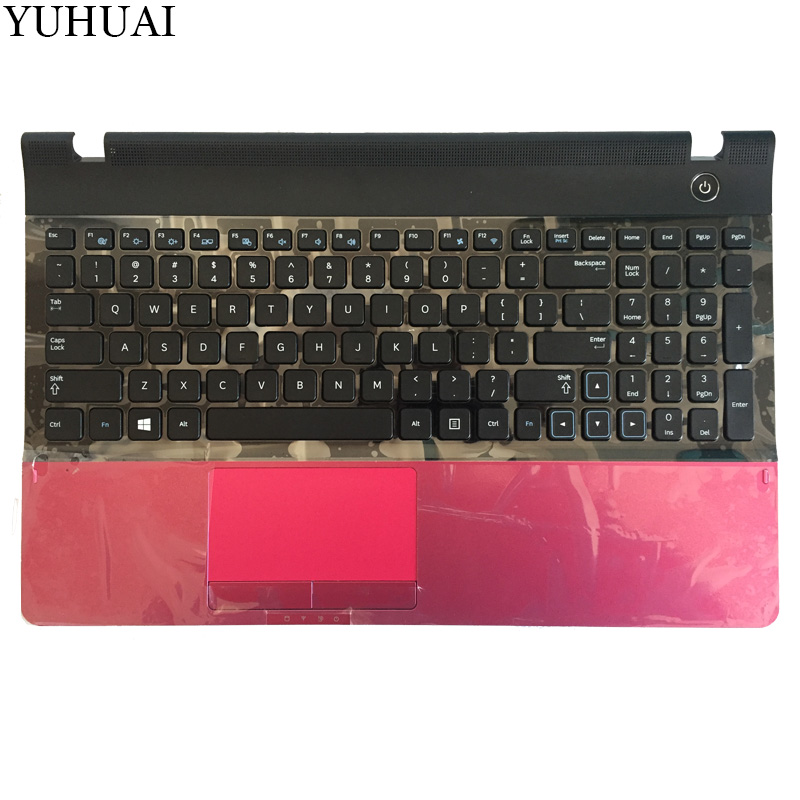 New US For samsung NP300E5A NP305E5C NP300e5x NP305E5A 300E5A 300E5C 300e5x 300E5Z US laptop keyboard with red Palmrest COVER