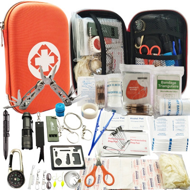 80 in 1 Outdoor survival kit Set Camping Travel Multifunction First aid SOS EDC Emergency Supplies Tactical for Hunting tool 2