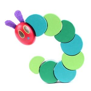 Image 2 - Ahşap bloklar çocuklar esnek blokları Montessori çok aç tırtıl oyuncaklar çocuklar için G0388