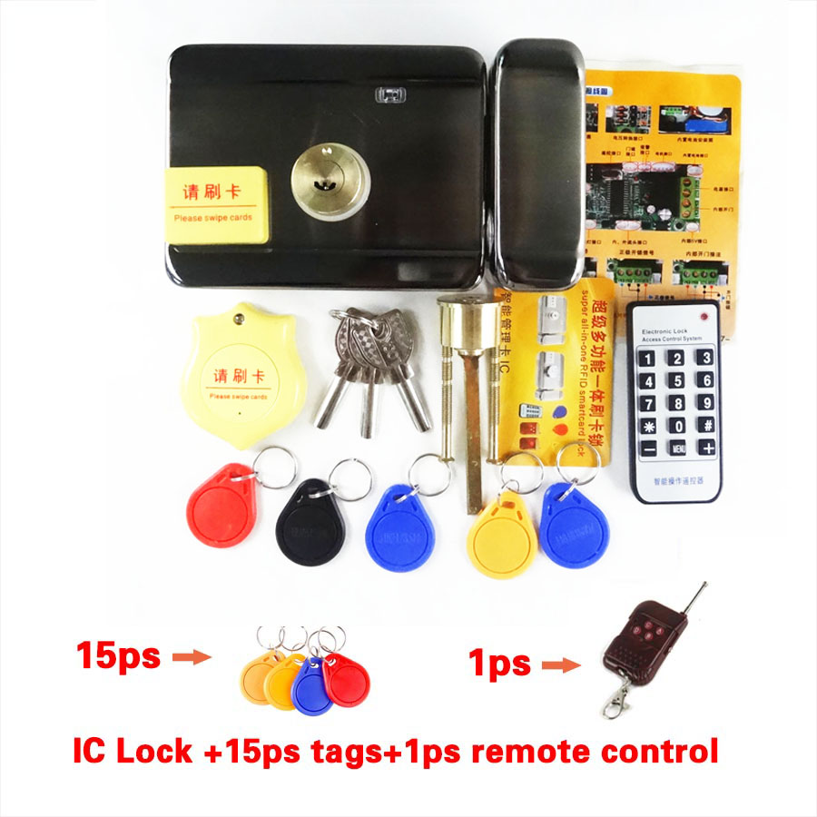 Electronic Access Control Wooden Iron Door Electric Lock 10 / RFID Access Control
