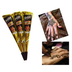1 piece Disposable Body Art Paint Mini Natural Indian Tattoo Henna Paste for Body Drawing Black Henna tattoo