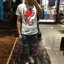 summer Slim T shirt men short sleeve male luxury t shirt 2017 new design top quality