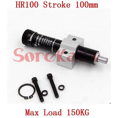 HR100 Adjustable Oil Pressure Buffer Damper SR100 Hydraulic Stable Stroke 100mm Max Load 150KG Pneumatic Element