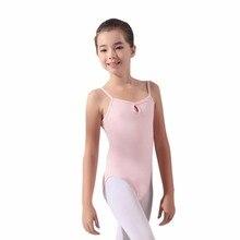 Nova Chegada do Verão Crianças Meninas Ballet Dança Ginástica Leotards Dancewear Collant Sexy Camisole Ballet Bodysuit