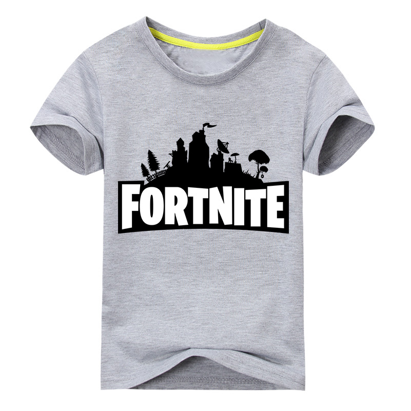 Children Summer Clothes Boy Short Sleeve T-shirt Girls T Shirts Clothing For Kids 3D Fortnite Print Tee Tops Baby Costume DX023 2017 summer girls sets clothes short sleeve chiffon baby girls sets for kids big girls t shirts and stripe shorts children suits