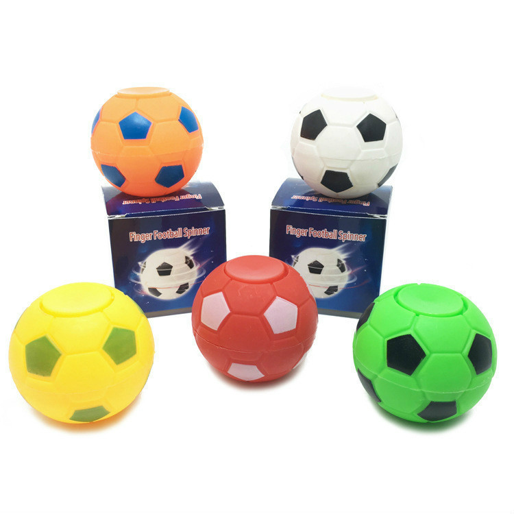 Football Finger Gyro Relieve Pressure Top Spinner Toy Gift To A Friend.