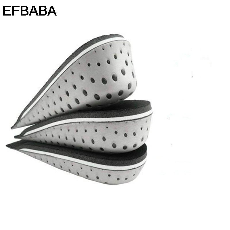 EFBABA Increased Insoles Heel Inserts Memory Foam Insoles Sweat Shock Absorbing Insoles Men Women Shoe Pad Accessoire Chaussure