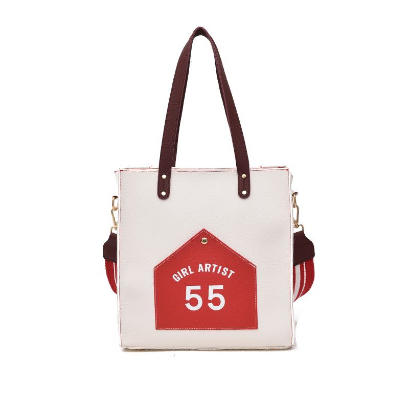 2018 Women Smooth Autumn Brand Handbags Large Capacity Tote Bag Colorful Strap Female Shoulder Crossbody Bag Bucket Sac A Main