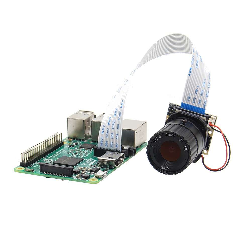 Raspberry Pi Camera / 5MP 4mm Focal Length Night Vision NoIR Camera Board with IR-CUT for Raspberry Pi 3 Model B/2B/B+/Zero (w)