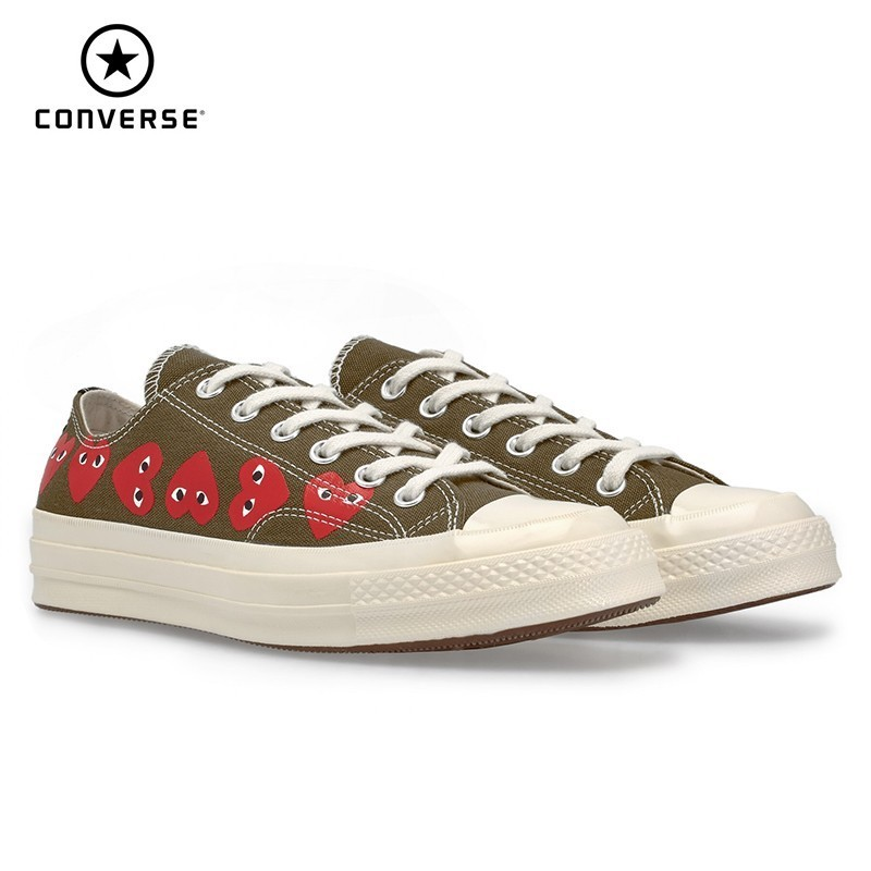 Converse X CDG PLAY New Arrival Men Skareboarding Shoes Red Heart Outdoor Sports Sneakers Women 162976C
