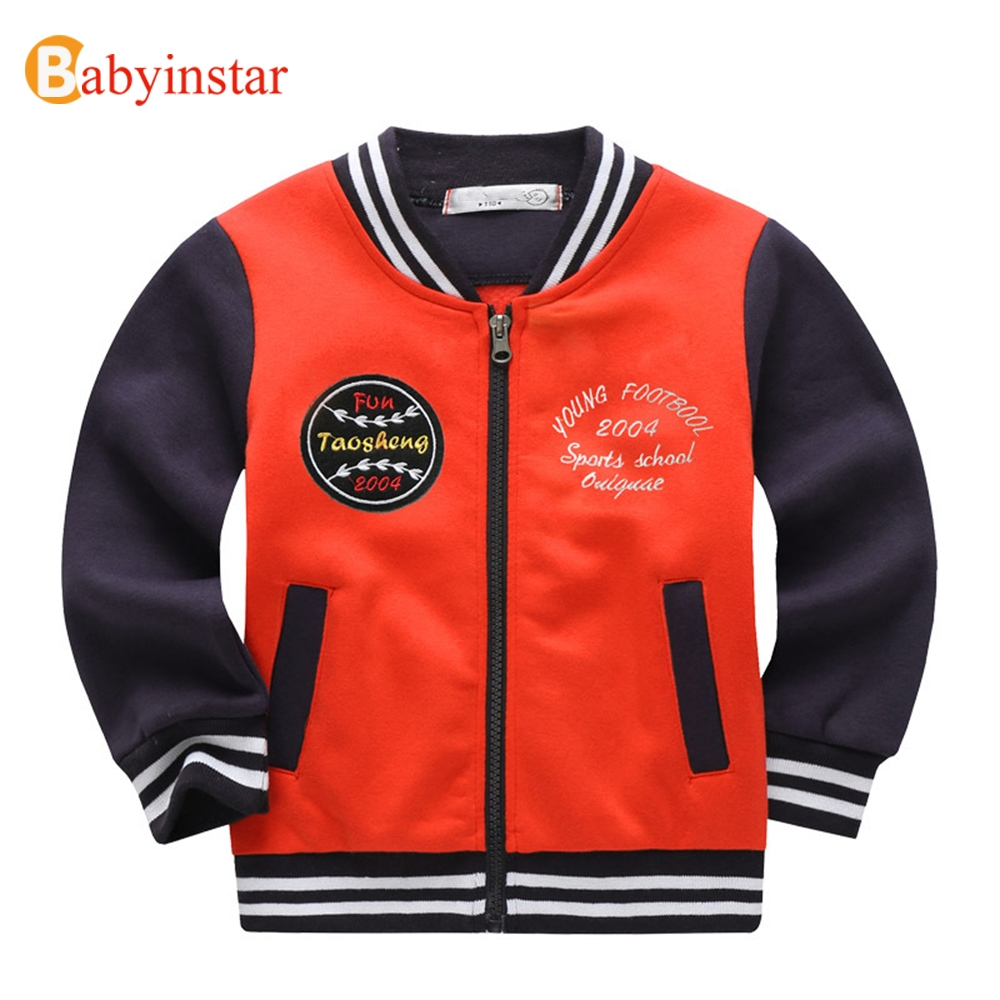 Babyinstar Casual Boys Sweatshirts Long Sleeve V-Neck Coat Letter Embroidery Children's Hoodies Kids Autumn Outwear