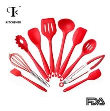 Silikon Küchenutensilien 10 Stück Kochen Utensil Set Spachtel, löffel, pfanne, Spaghetti Server, Slotted Turner. kochen Werkzeuge