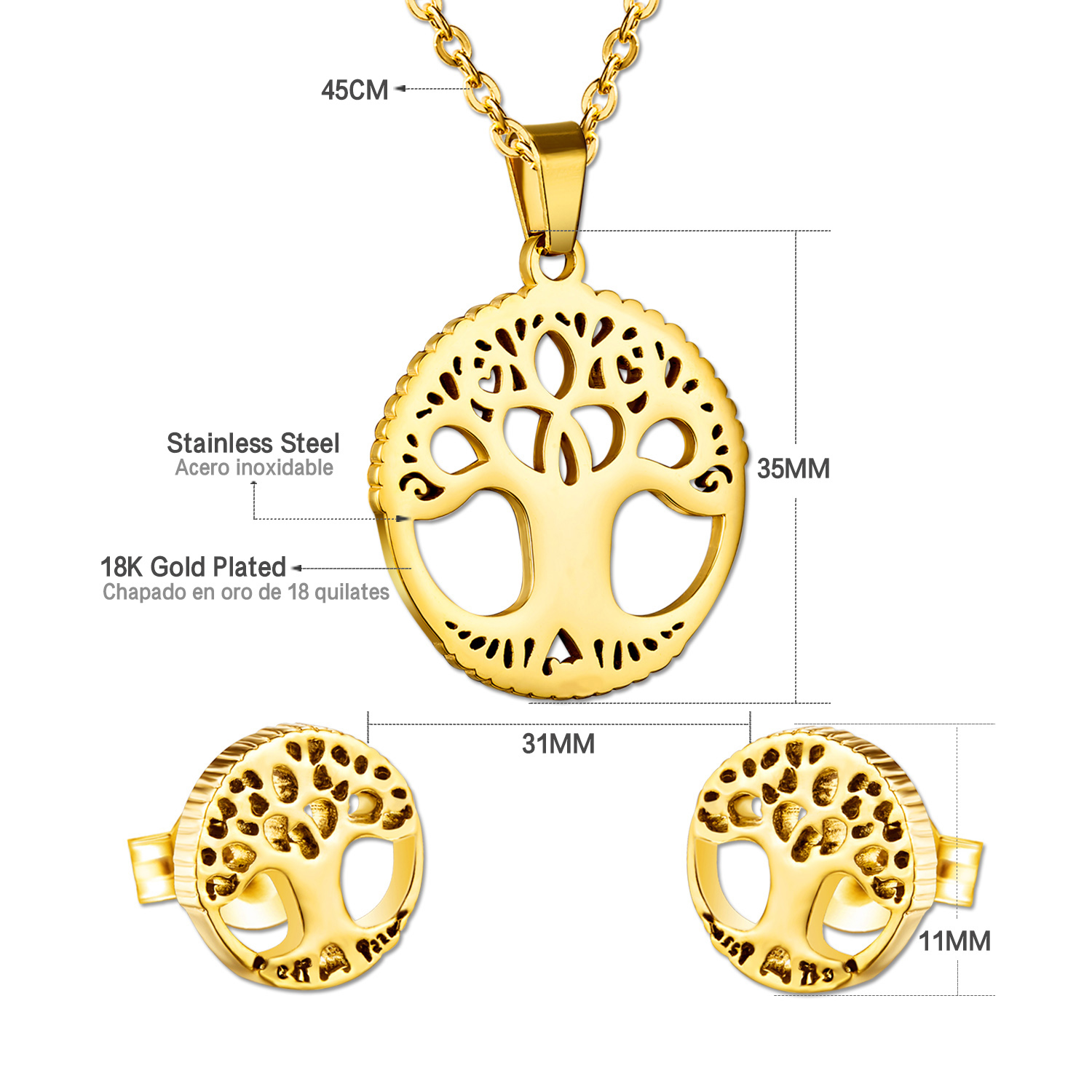 product layering family symbol pendant of hope adinkra meaningful necklace gold