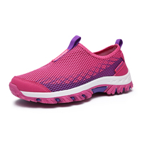 2017 Hiking Shoes Women Outdoor Sneakers Summer Mountain Sneakers Women Slip On Walking Trainers Red Pink Climbing Shoes