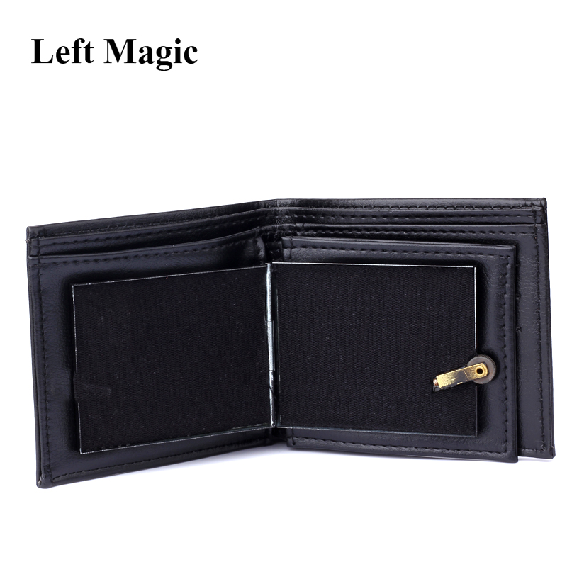 Flame Wallet Magic Tricks Big flame Leather Wallet Magician Trick Stage Street Show magic props Funny Bifold Wallet Outdoor