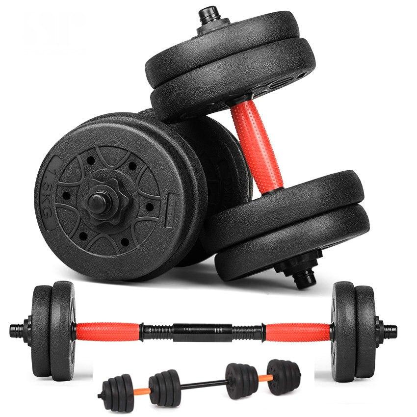 Haltère ensemble de poids avec barres d'haltères 15 kg