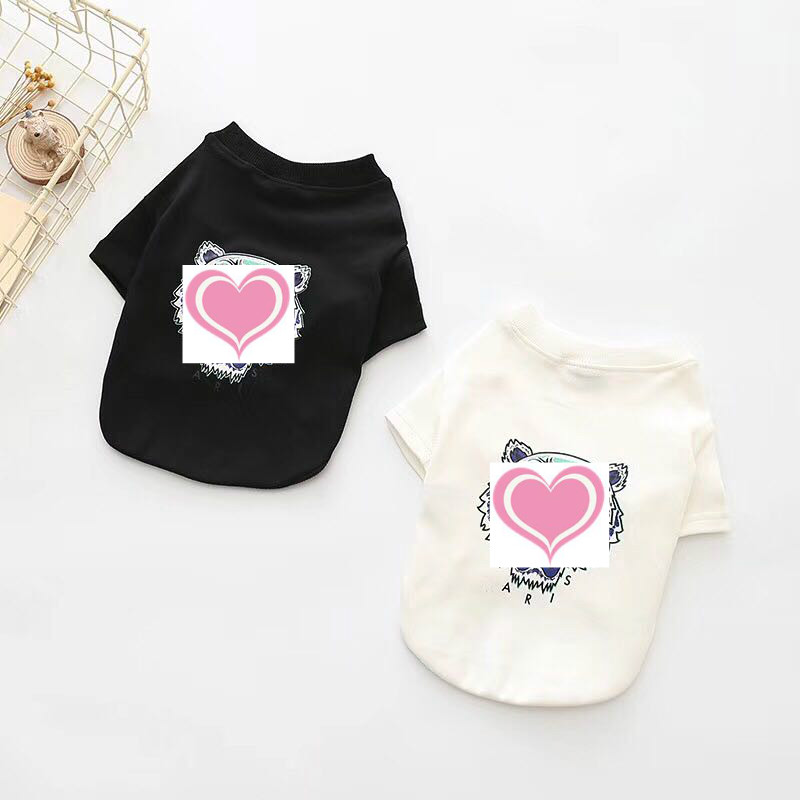 2018 Spring tide tiger head pet sweater Teddy fashion T-shirt French bulldog short sleeve cat dog autumn and winter coat clothes