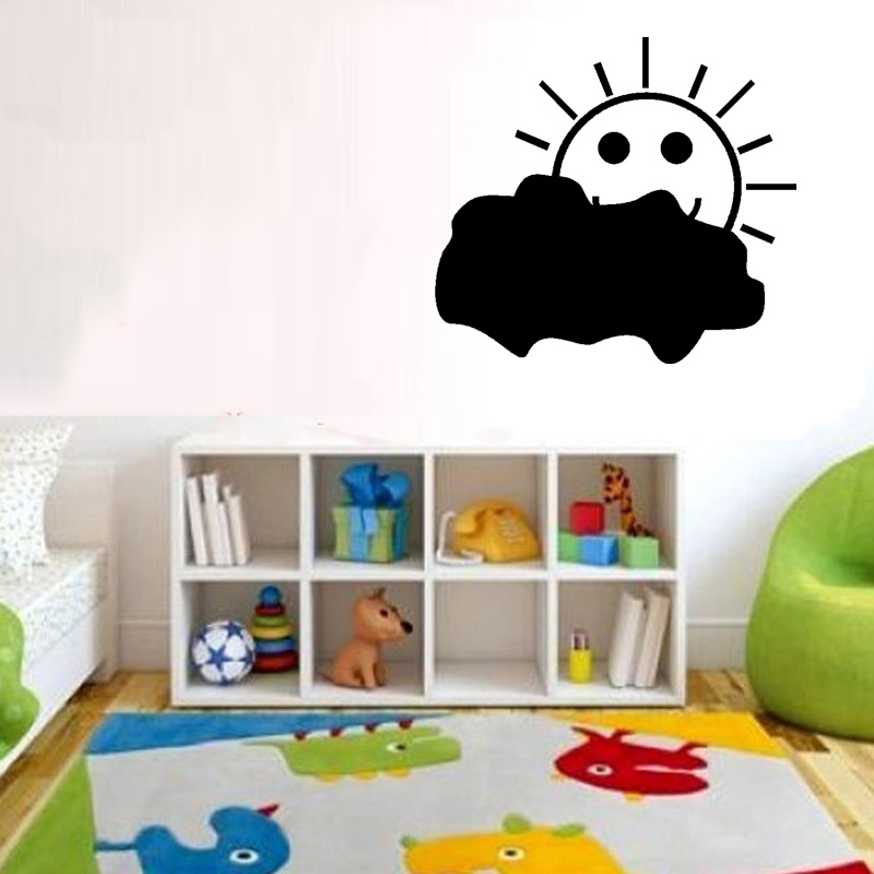 smiling cartoon cloud and sun wall sticker stikers for wall