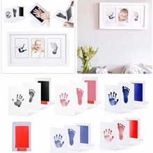 Baby Care Non-Toxic Baby Photo frame DIY Handprint Footprint Imprint Kit Baby Souvenirs