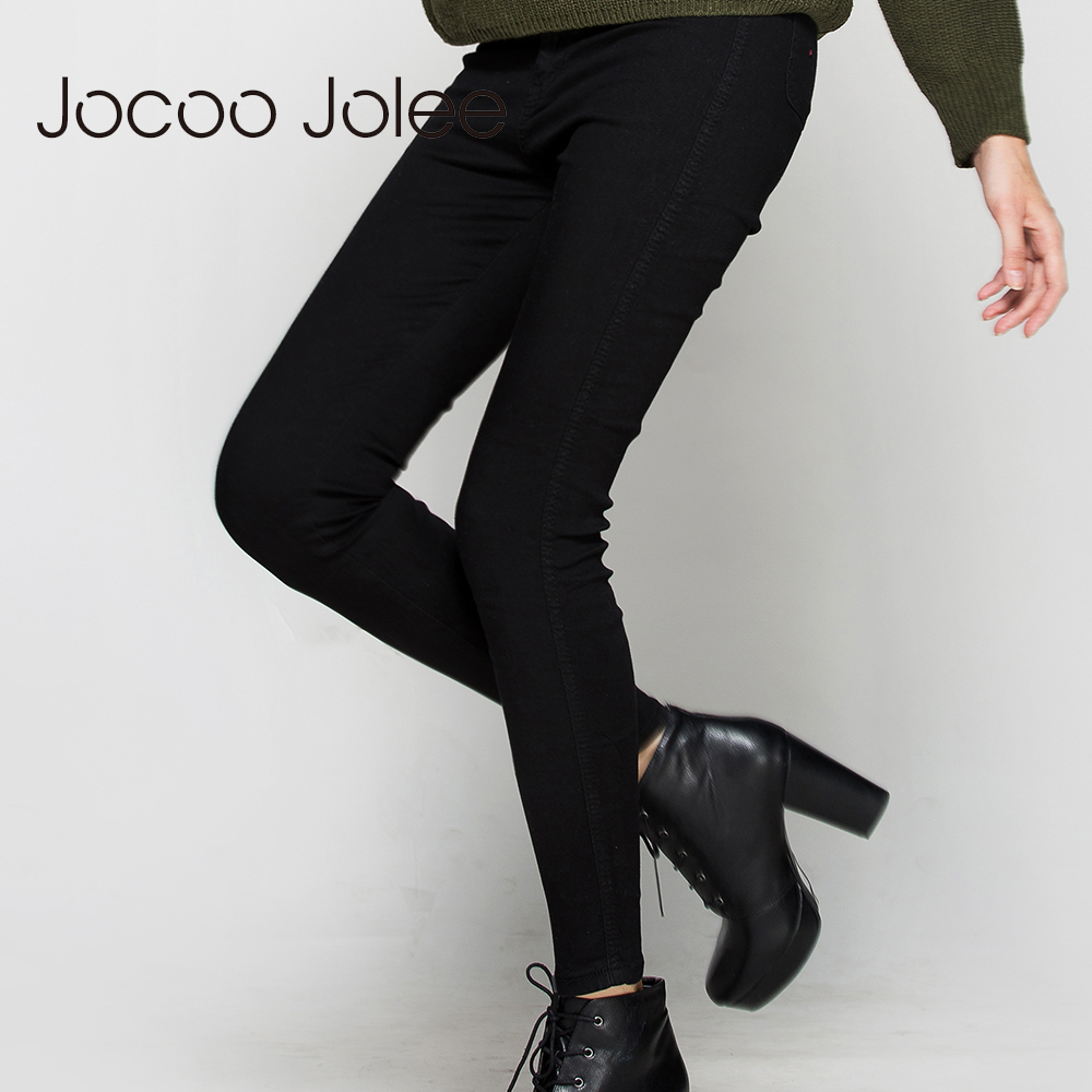 Jocoo  Jolee High Waist Pencil Pants Jeans Sexy Slim Jeans For Women High Street Style Elastic Skinny Pants Trousers 2017 New 4xl plus size high waist elastic jeans thin skinny pencil pants sexy slim hip denim pants for women euramerican
