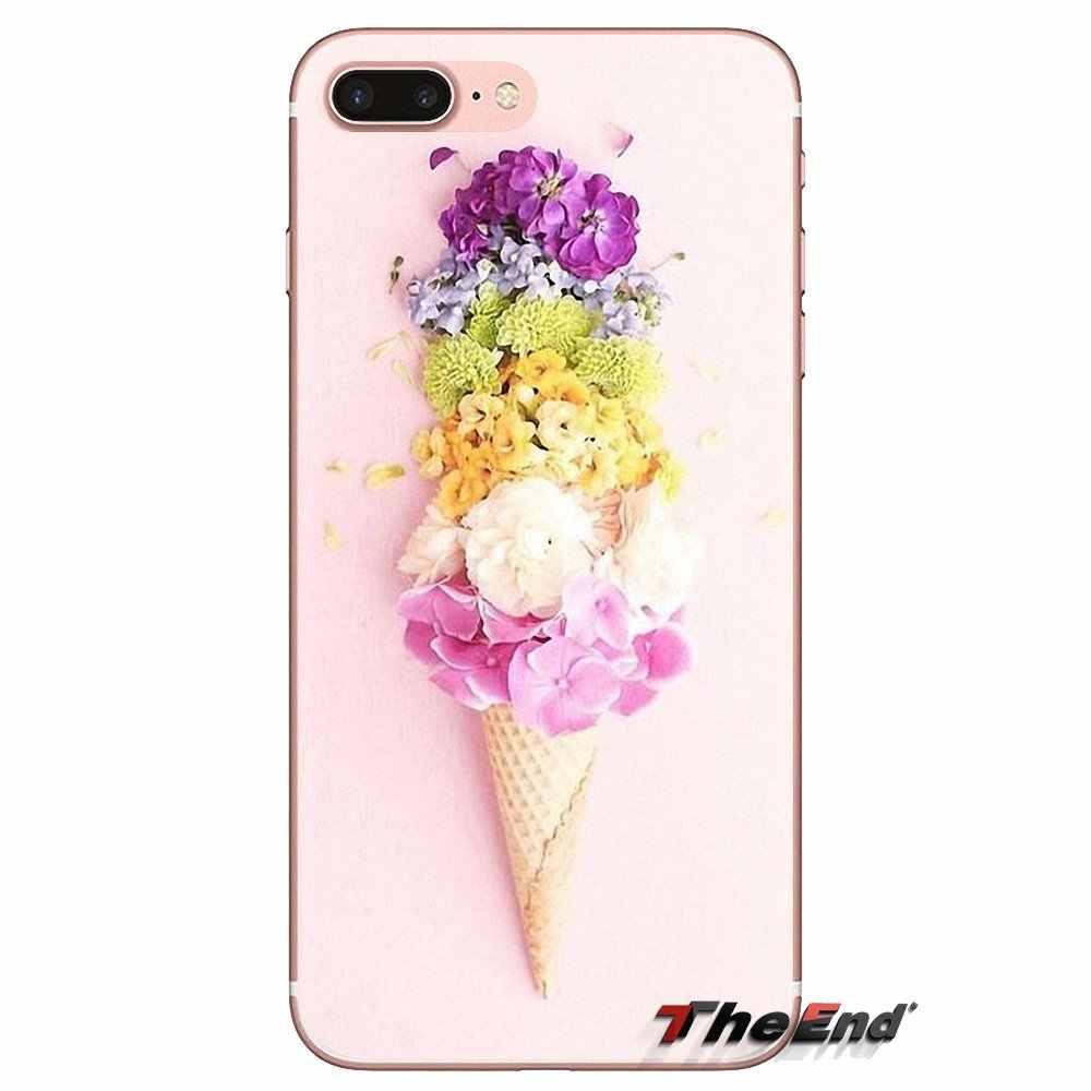 עבור Huawei G7 G8 P7 P8 P9 P10 P20 P30 לייט מיני פרו P חכם בתוספת 2017 2018 2019 סוכריות צבעים קרח קרם פרח פיצה אדמונית מכסה