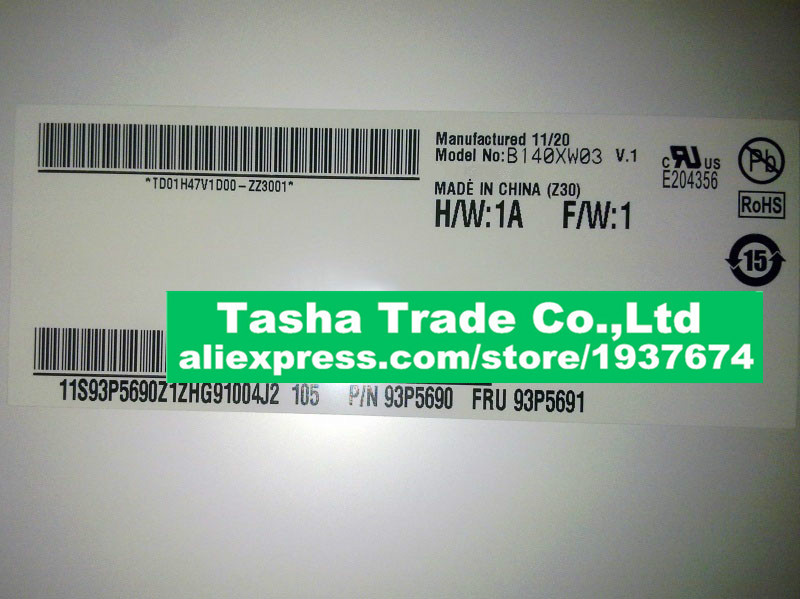 B140XW03 V1 B140XW03 V.1 LCD Screen Display Panel 1366*768 LVDS 40pinB140XW03 V1 B140XW03 V.1 LCD Screen Display Panel 1366*768 LVDS 40pin