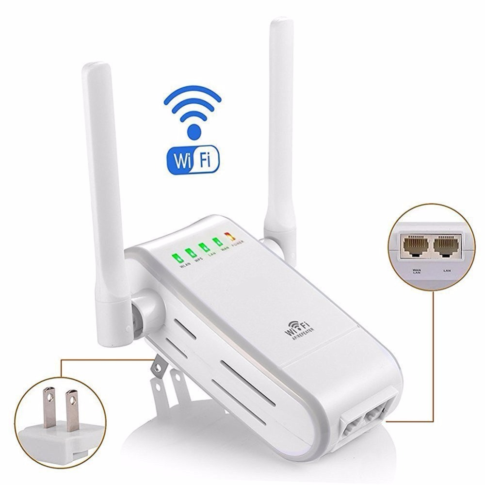 Lot of 100pcs 300Mbps Wireless WIFI Repeater with Dual Antenna Range Extender Booster EU /US/UKPlug,DHL shipping