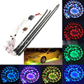 7Color Changable LED RGB Strip Under Auto Car Underbody System Neon Light Flash Strip Lamp Flexible Interior Kits With Remote