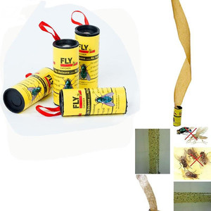 Image 5 - 4 rouleaux de papier mouche collant éliminer les mouches insecte colle piège à papier pratique et pratique produit en promotion domestique