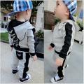 2015 New Children clothing set Sport Package Zipper suit Boy/Girl sets Tops + pants 2PCS 100% Cotton Kids clothes Baby clothing