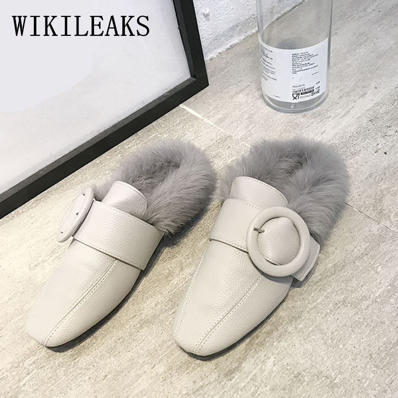 fur shoes woman mules ladies flat shoes women loafers tenis feminino casual women shoes 2017 flats zapatos mujer fur moccasins цена и фото
