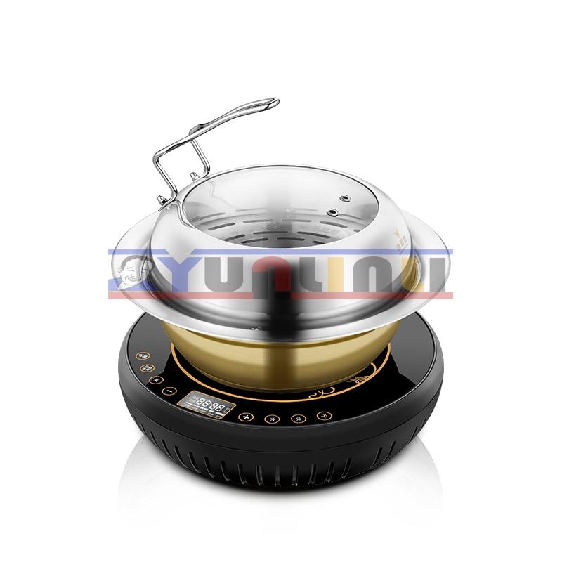 купить Multifunctional Electric Steam Hot Pot Household Seafood Steamer Stainless Steel Steam Cooker ZDH-KJ-2 недорого