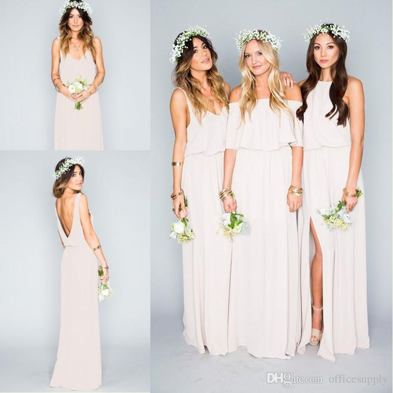 New Arrival 2017 Summer Beach Bohemian Bridesmaid Dresses