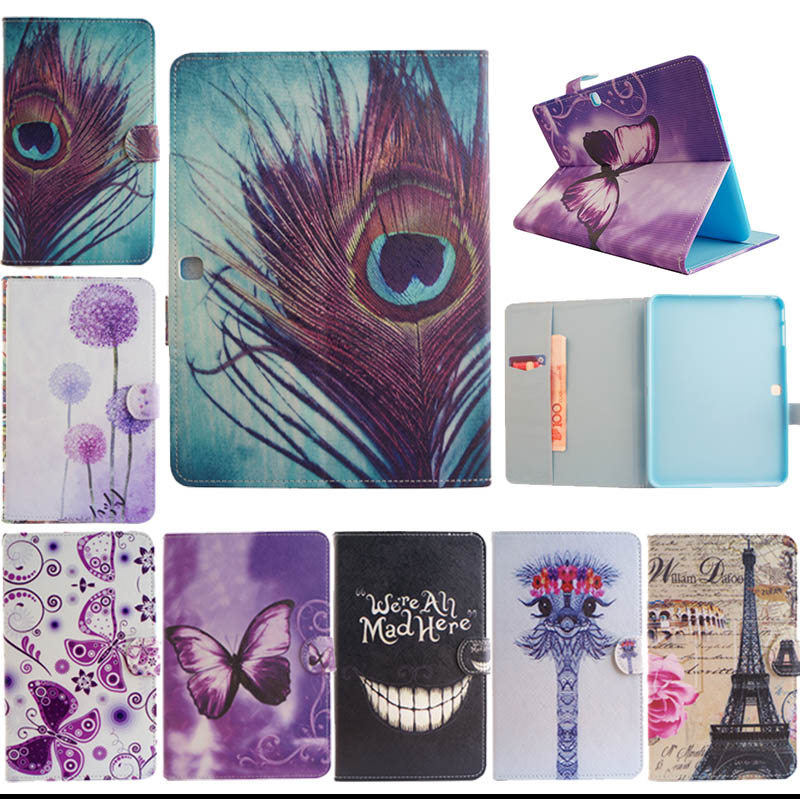 T530 T531 T535 Fashion style PU Leather Case Cover for Samsung Galaxy Tab 4 10.1 SM T530 T531 T535 Stand Tablet Cover Y5555D